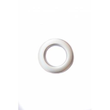 Люверс матовое серебро диаметр 3.5 см
