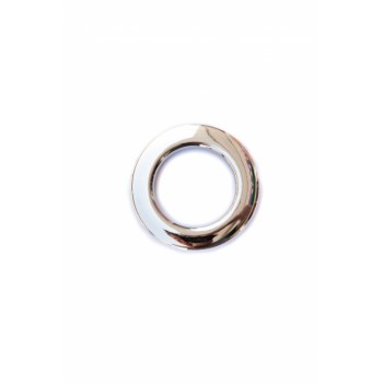 Люверс глянцевое серебро диаметр 3,5 см