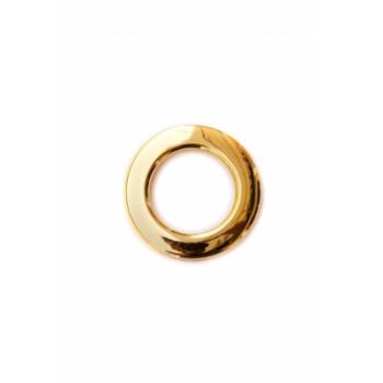Люверс глянцевое золото диаметр 3.5 см