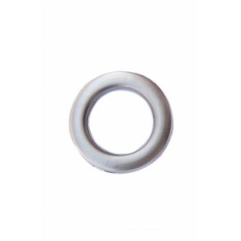 Люверс матовое серебро диаметр 5 см