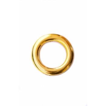 Люверс глянцевое золото диаметр 5 см