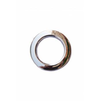Люверс глянцевое серебро диаметр 5 см