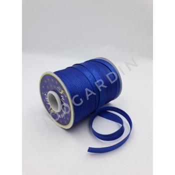 Косая бейка атласная синий электрик