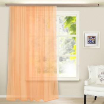 Тюль вуаль светло персиковый