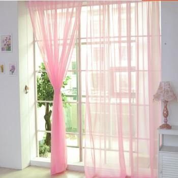 Тюль вуаль розовая