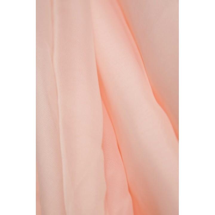 Тюль шифон светло-персиковый №С17