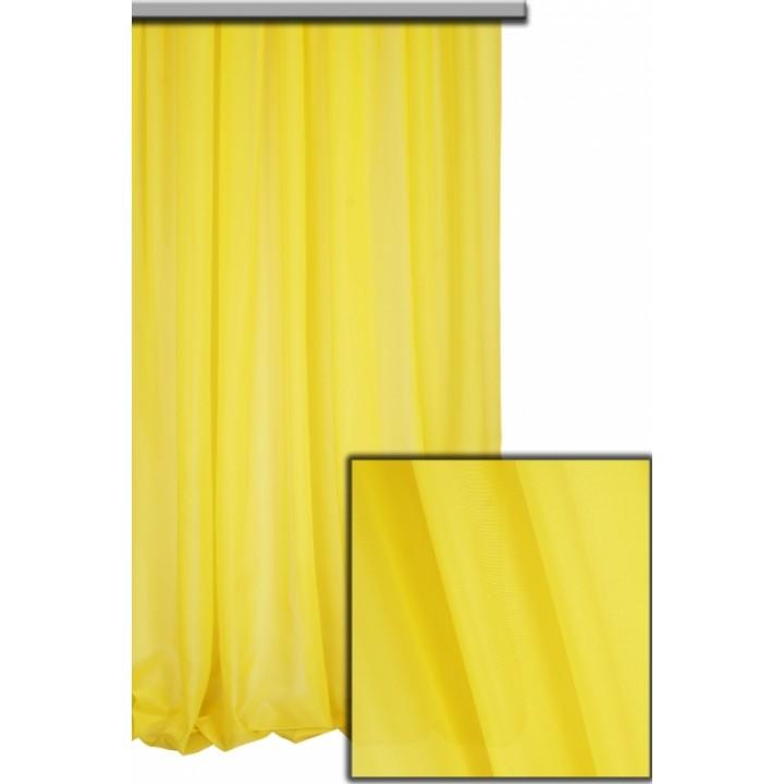 Тюль шифон ярко-желтый №А48