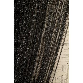 Шторы нити Дождик №09 черный 3м*2.8м