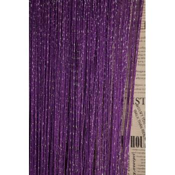 Шторы нити Дождик №205 фиолетовый 3м*2.8м