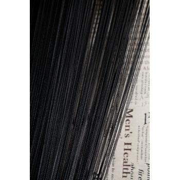 Однотонные шторы нити №09 черный 3м*2.8м