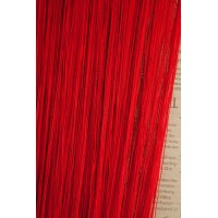 Однотонные шторы нити №17 красный 3м*2.8м