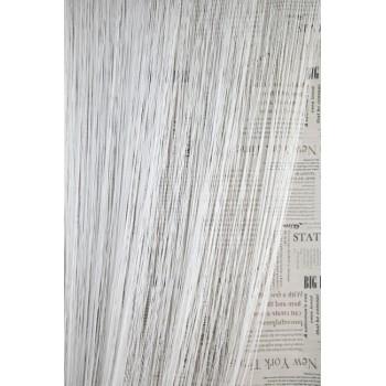 Однотонные шторы нити №01 белый 3м*2.8м