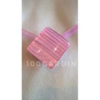 Магнит для штор квадрат розовый жемчуг