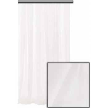 Тюль Шифон высота 320 см белый с утяжелителем