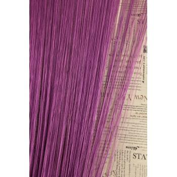 Однотонные шторы нити №205 пурпурный 3м*2.8м