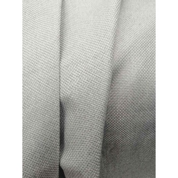 Шторы Блекаут лен рогожка серый теплый