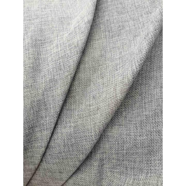 Шторы лен мешковина светло-серый