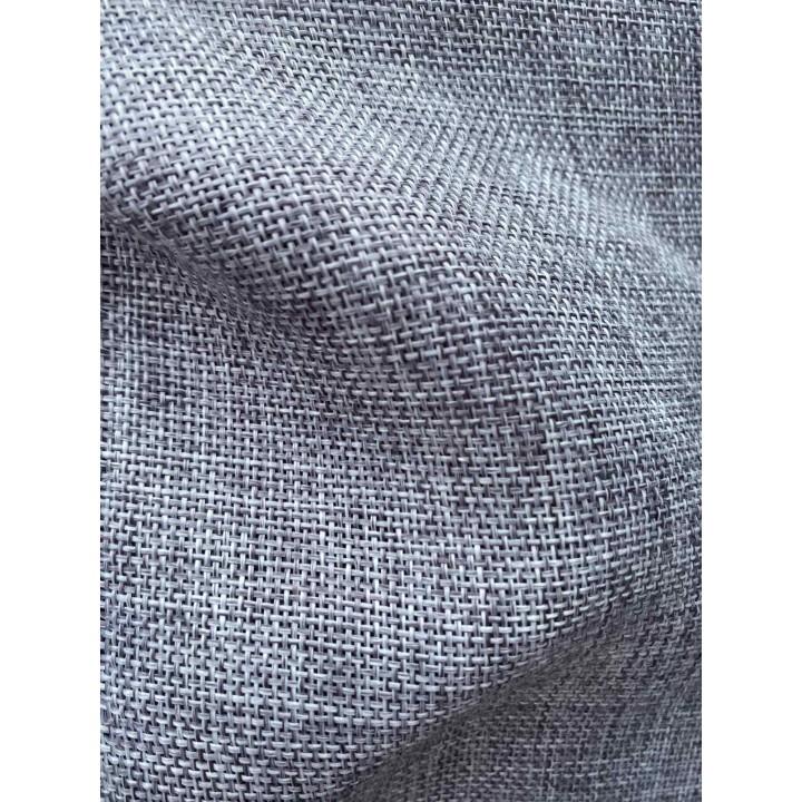 Шторы лен мешковина серый